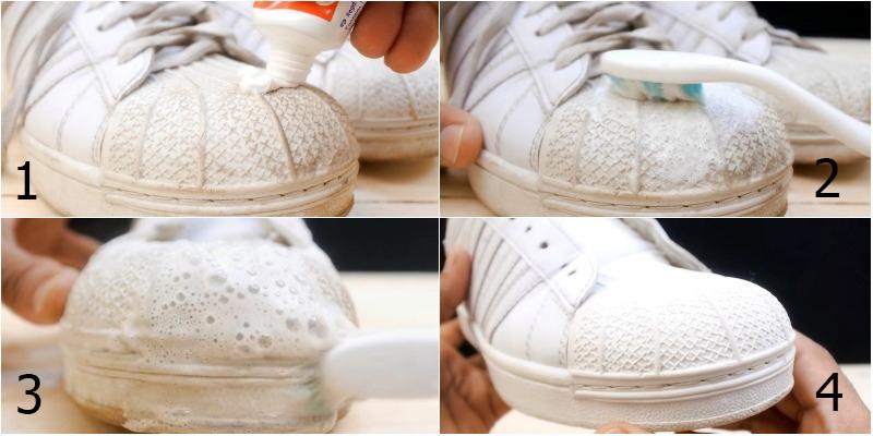Làm mới giày trắng tại nhà cùng keo dán đa năng Y66