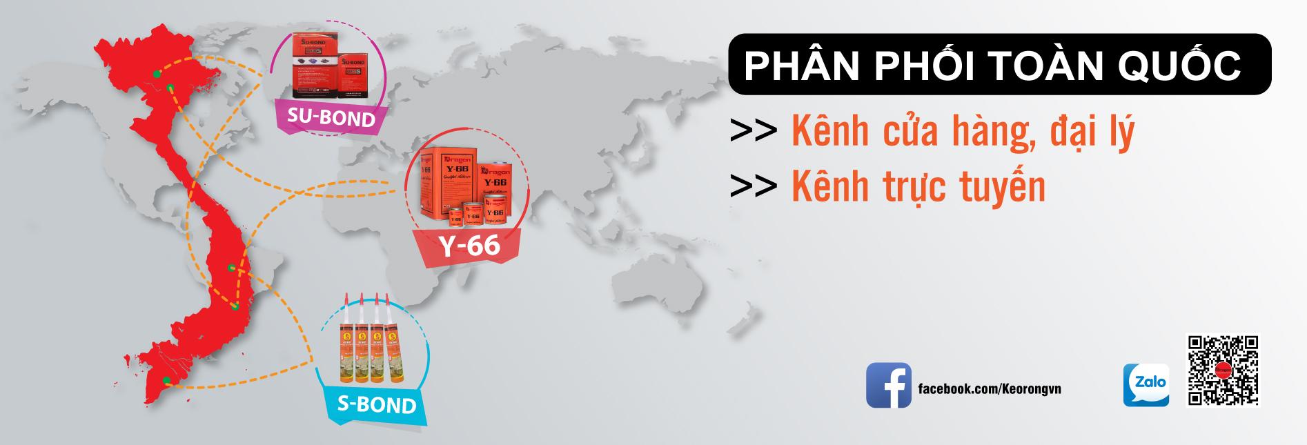 Mạng lưới phân phối keo rồng trên toàn quốc