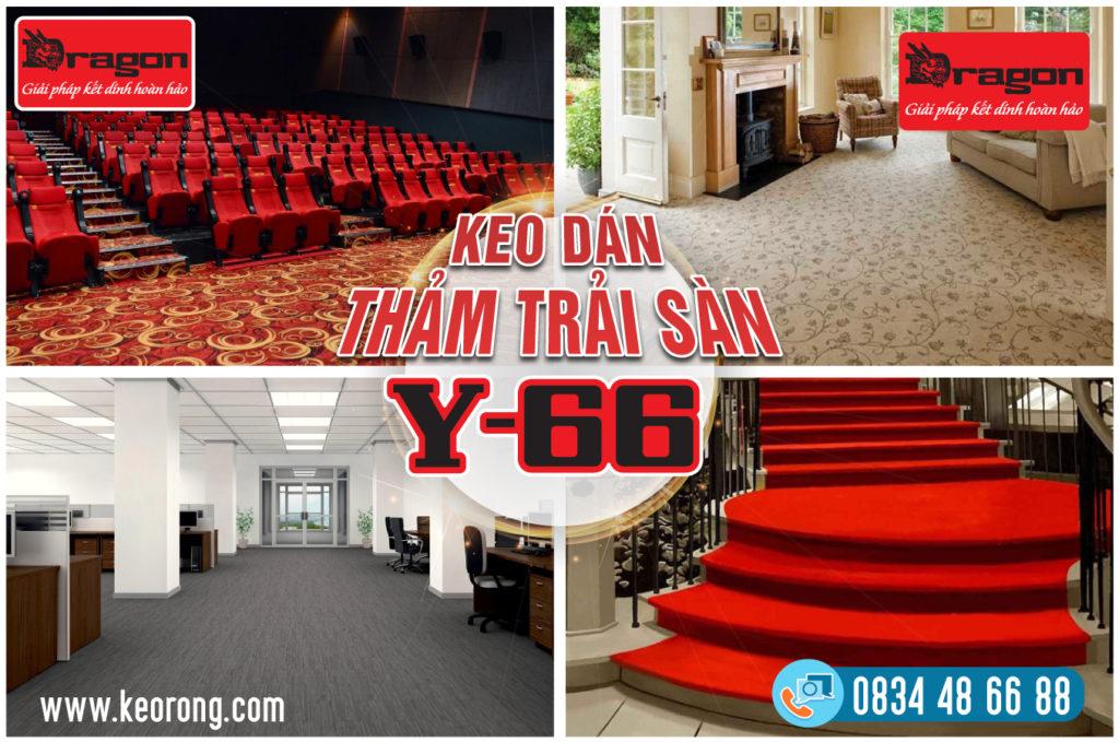 Keo dán thảm trải sàn Y66 - Dòng keo chuyên dán thảm văn phòng